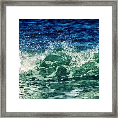 Wave3 Framed Print by Stelios Kleanthous