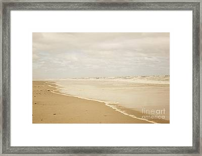Waves Along The Shoreline Framed Print by Juli Scalzi