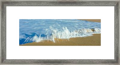 Waves Breaking On The Beach, Playa La Framed Print by Panoramic Images