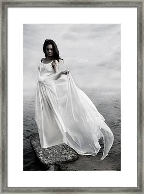 Waves Framed Print by Cambion Art