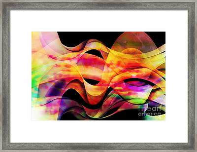 Waves Of Color Framed Print by Geraldine DeBoer