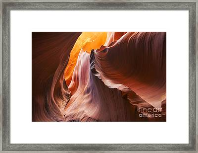 Waves Of Color Framed Print by Jennifer Magallon