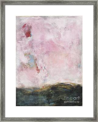 Waves Of Pink Abstract Art Framed Print by Anahi DeCanio