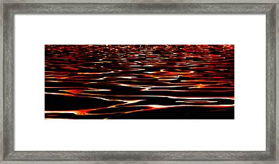 Waves On Fire Abstract Framed Print by David Patterson