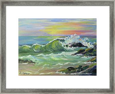 Waves Framed Print by Saga Sabin