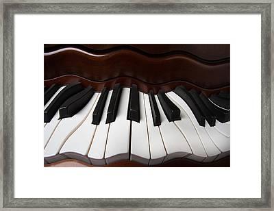 Wavey Piano Keys Framed Print by Garry Gay