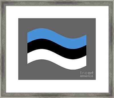 Waving Estonia Flag Framed Print by Frederick Holiday