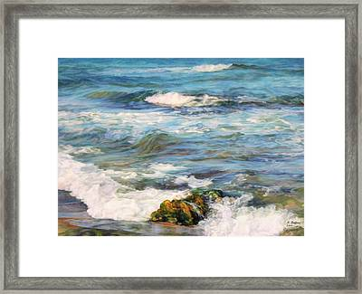 Waving Sea... Framed Print by Maya Bukhina
