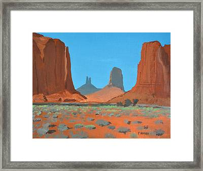 Way Of The Towers Framed Print by Tom Amiss