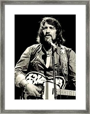 Waylon Jennings In Concert, C. 1976 Framed Print by Everett