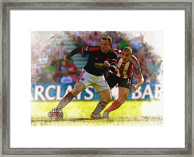 Wayne Rooney Is Marshalled Framed Print by Don Kuing