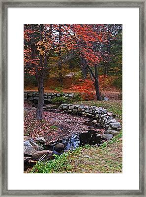 Wayside Inn Stream Sudbury, Ma Framed Print by Toby McGuire