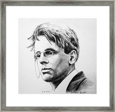 W.b. Yeats Framed Print by Colleen Quinn