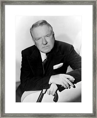 W.c. Fields, Paramount Pictures, 1935 Framed Print by Everett