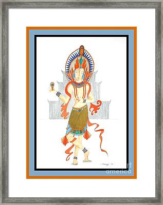 We Are All Goddesses -- Portrait Of Hindu Goddess Framed Print by Jayne Somogy