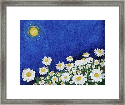 We Are Daisies Framed Print by Laura Brightwood