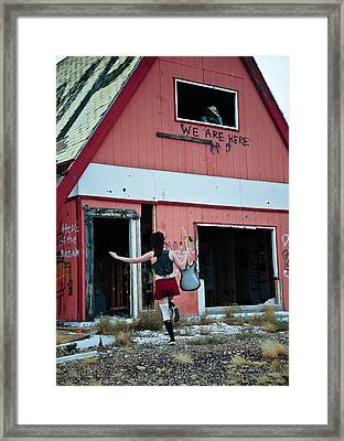 We Are Here Framed Print by Scott Sawyer