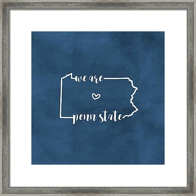 We Are Penn State Pillow Framed Print by Michelle Eshleman