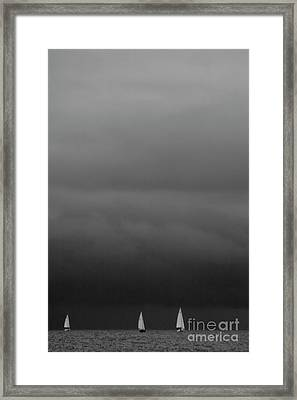 We Are Sailing On Baltic Sea Framed Print by Heiko Koehrer-Wagner