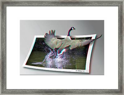 We Have Liftoff - Use Red-cyan 3d Glasses Framed Print by Brian Wallace