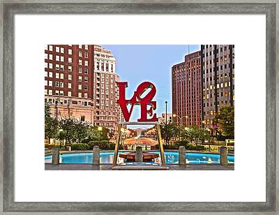 We Love Philadelphia Framed Print by Skyline Photos of America