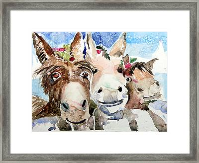We Three Wise Asses Framed Print by Mindy Newman