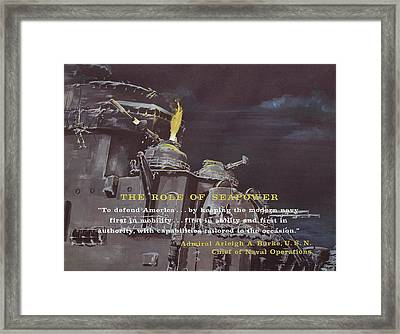 Weapon Alpha Surface To Undersea Rocket Framed Print by American School