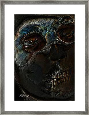 Wearing Death Framed Print by Jean Gugliuzza