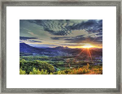 Wears Valley Tennessee Sunset Framed Print by Reid Callaway