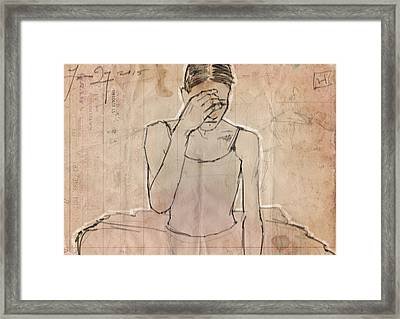 Weary Framed Print by H James Hoff