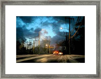 Weather Or Not Framed Print by Diana Angstadt