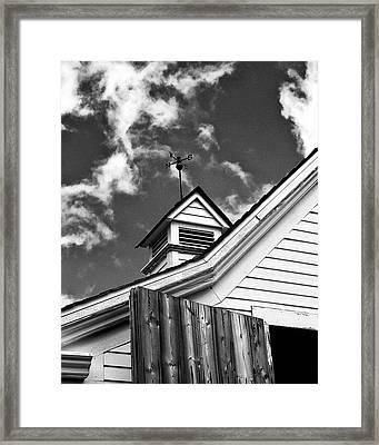 Weather Vane Bw Framed Print by William Dey
