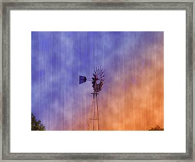 Weather Vane Sunset Framed Print by Bill Cannon