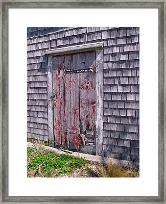 Weathered And Worn Framed Print by Barbara McDevitt