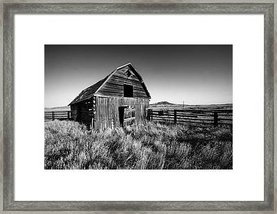 Weathered Barn Framed Print by Todd Klassy