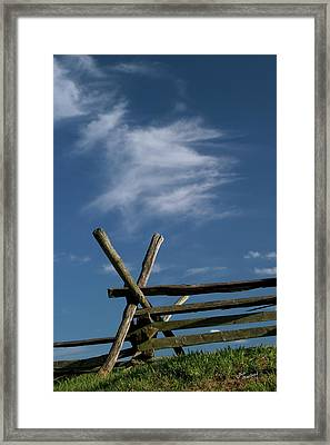 Weathered Fence Framed Print by Judi Quelland
