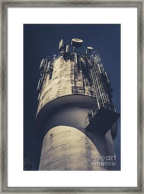 Weathered Water Tower Framed Print by Jorgo Photography - Wall Art Gallery