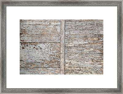 Weathered Wood Background Framed Print by Elena Elisseeva