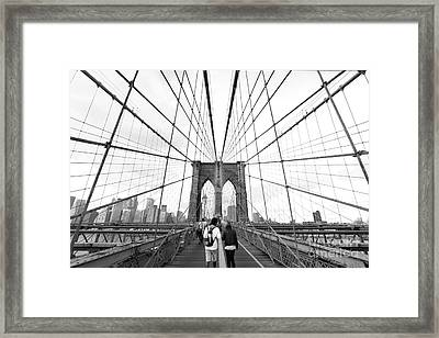 Web Of Love Framed Print by Andrew Serff