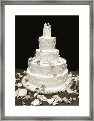Wedding Cake Petals Framed Print by Marilyn Hunt