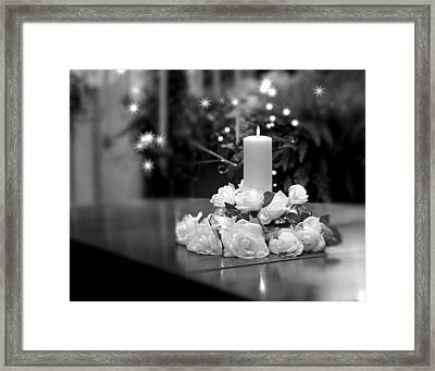 Wedding Candle Framed Print by Tom Mc Nemar