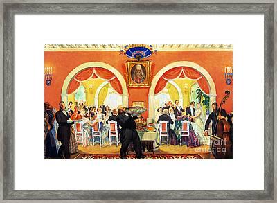 Wedding Feast, 1917 Framed Print by Boris Mikhailovich Kustodiev