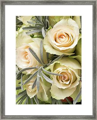 Wedding Flowers Framed Print by Wim Lanclus