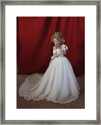 Wedding Gown Framed Print by Chuck Shafer