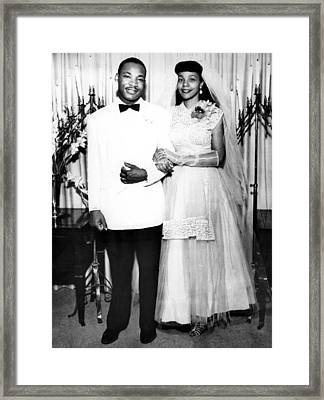 Wedding Of Martin Luther King And Coretta Scott Framed Print by American School