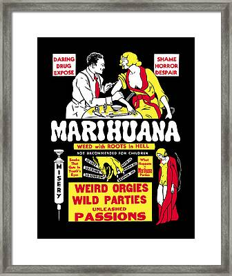 Weed With Roots In Hell  1936 Framed Print by Daniel Hagerman