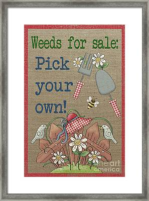 Weeds For Sale-jp3908 Framed Print by Jean Plout