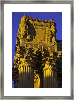 Weeping Females Palace Of Fine Arts Framed Print by Garry Gay