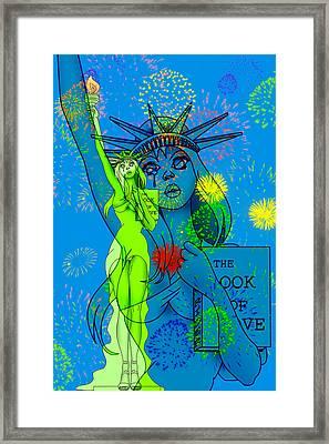 Weeping Liberty Framed Print by Lynn Rider
