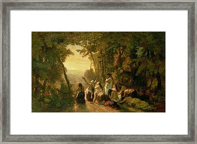 Weeping Of The Daughter Of Jephthah Framed Print by Narcisse Virgile Diaz de la Pena